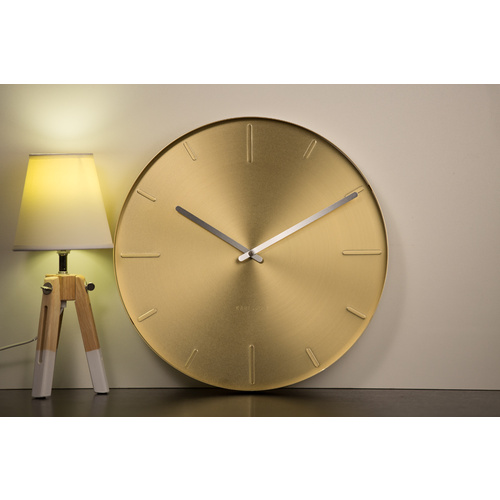 Karlsson Belt Wall Clock - 40cm Brass Plated