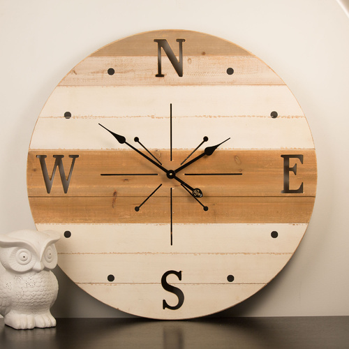Compass Wall Clock - 76cm
