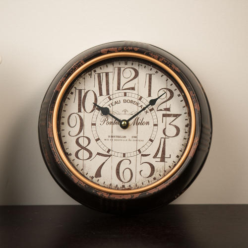 25cm Milon Wall Clock - Black