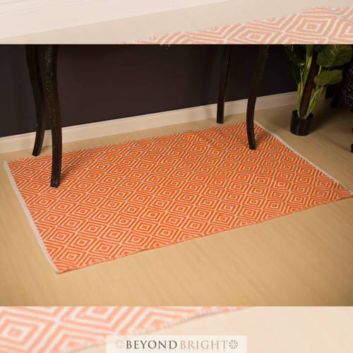 Kimberley Cotton - Orange - Fab Rugs