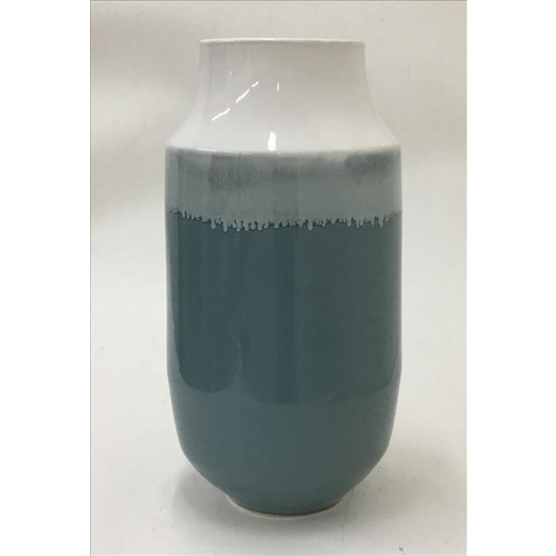Mia Ceramic Decorative Large Vase - Blue - 30x62cm