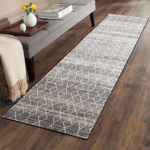 Evolve Remy Transitional Runner - Silver - 80x300cm