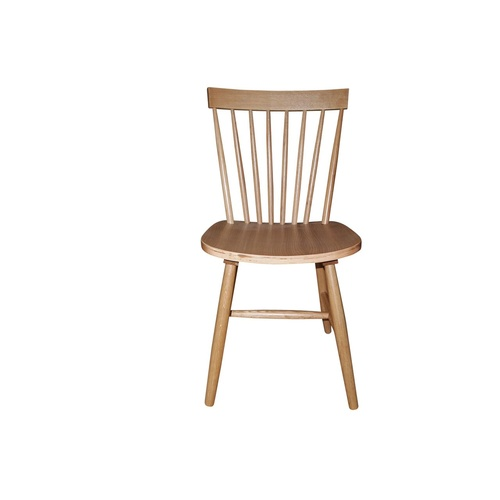 Simple Living - Set of 2 Ari Solid Oak Dining Chairs - Natural Wood