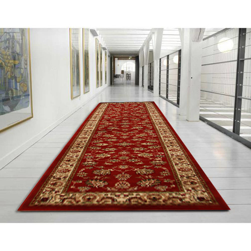 Ankara Traditional Floral Runner - Red
