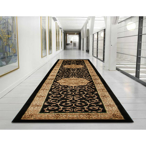 Ankara Medallion Classic Runner - Black