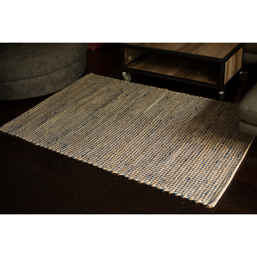 Fab Rugs IRIS Jute Cotton Rug - Deep Grey