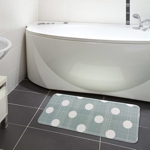 Reversible PVC Padded Kitchen Mat - 44x95cm - Dots & Diamonds