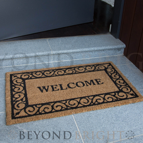 'Welcome' Coir Door Mat 45 x 75cm
