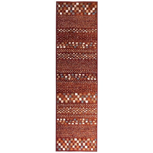 Mayfair Squares Runner - Rust