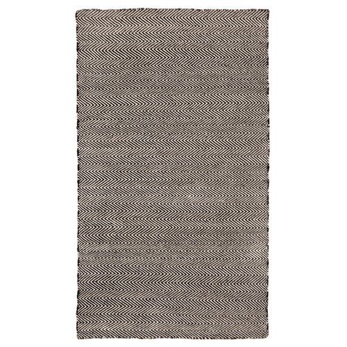 Fab Rugs Soft P.E.T. Floor Rug - Herringbone Black