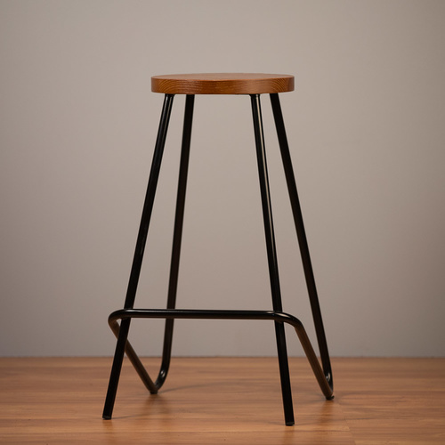 2 x Elm Bar Stool - Black