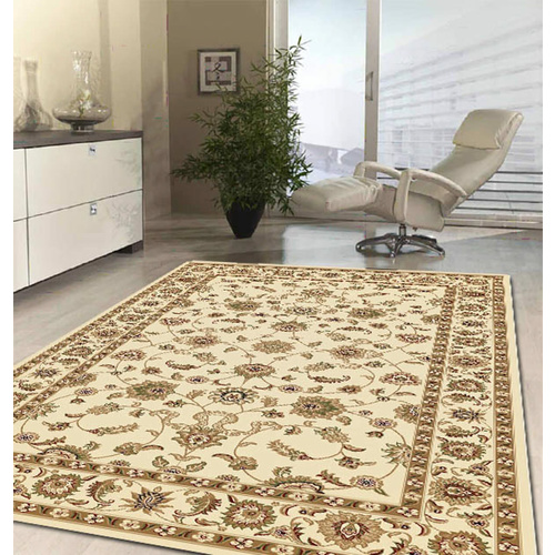 Sydals Classic Border Rug - Ivory with Ivory