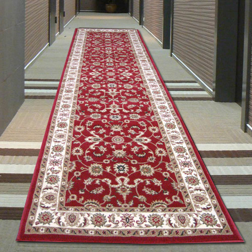Sydals Classic Border Runner - Red with Ivory