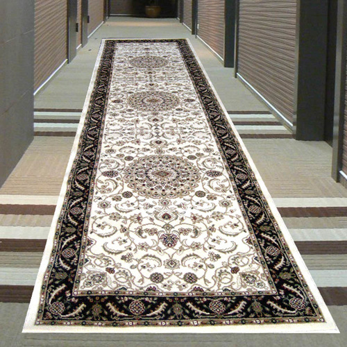 Sydals Medallion Border Runner - Ivory with Black - 80x300cm
