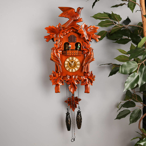 Cambridge Musical Dancers Pendulum Swings Cuckoo Clock - 44x14.5x28cm